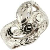 【送料無料】ハワイアンジュエリー 蛇 シルバーリング スネーク キュービックジルコニア 指輪 レディース ハワイアンリング sv925 贈り物 誕生日プレゼント ギフト