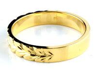 【送料無料】ハワイアンジュエリークロスピンクキュービックリング指輪ハワイアンリングイエローゴールドk18レディース18金ストレート