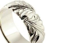 【送料無料】ハワイアンジュエリーリング幅広指輪ハワイアンリングシルバー地金リングミル打ちレディースストレート
