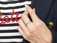 【送料無料】ハワイアンジュエリーピンクトルマリンホワイトゴールドk18リング指輪ハワイアンリングスパイラルk18レディース10月誕生石