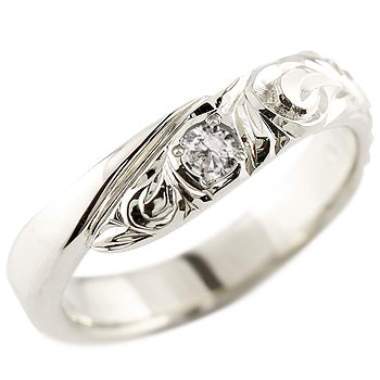 ハワイアンジュエリー ダイヤモンド ホワイトゴールドk10リング 指輪 ハワイアンリング スパイラル k10 レディース 4月誕生石 贈り物 誕生日プレゼント ギフト ファッション お返し