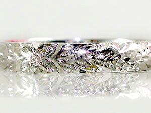 ハワイアンジュエリー リング 指輪 ホワイトゴールドk18 一粒 ダイヤモンド ハワイアンリング 18金 k18wg ストレート 贈り物 誕生日プレゼント ギフト ファッション 妻 嫁 奥さん 女性 彼女 娘 母 祖母 パートナー