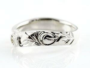 ピンキーリング ハワイアンジュエリー ダイヤモンド ホワイトゴールドk10リング 指輪 ハワイアンリング スパイラル k10 レディース 4月誕生石 宝石 妻 嫁 奥さん 女性 彼女 娘 母 祖母 パートナー