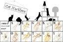 プラチナ ネックレス 猫 イニシャル ネーム K アクアマリン ペンダント アルファベット ネコ ねこ ヘアライン仕上げ レディース チェーン 人気 送料無料 人気 3