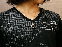 【送料無料】イニシャルネームメンズOネックレスダイヤモンドピンクゴールドk18ペンダントアルファベットチェーン人気男性18金ダイヤ