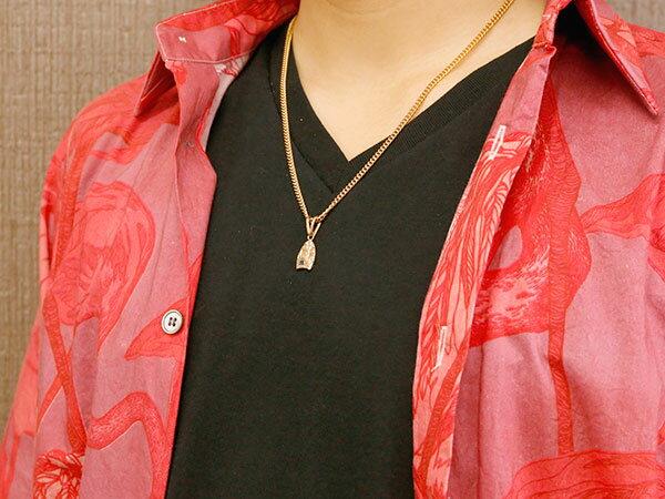 メンズ 喜平用 ピンクゴールドk10 ハワイアンジュエリー サファイア ネックレス ペンダント ハワジュ プレート サーフボード シンプル 10金 人気 エンゲージリングのお返し