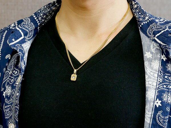 ネックレス メンズ 喜平用 キヘイ メンズ ダイヤモンド ネックレス 一粒 イエローゴールドk18 ダイヤ ペンダント 18金 チェーン 人気 ホーニング つや消し加工
