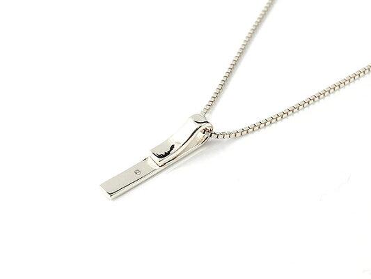 メンズネックレスホワイトゴールドk10バーネックレスダイヤモンド一粒ペンダント10金10kチェーンスター彫りプレートネックレス