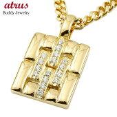 ネックレスメンズ喜平用ダイヤモンドイエローゴールドk18メタルバンド時計ペンダント18金男性用ダイヤ人気父の日