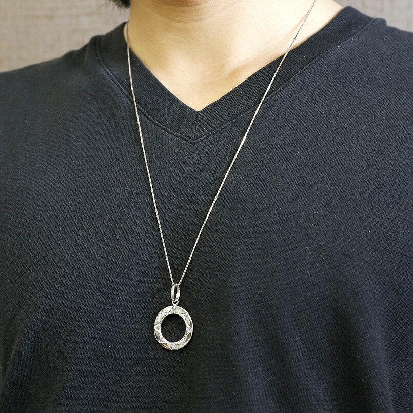 プラチナネックレス メンズ  ダイヤモンド ダンダラ模様 八 ペンダント pt900 男性用 太陽 富士山 8 縁起数 リング ホーニング加工 つや消し 父の日