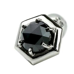 25053ec9a94ba5 ピアス メンズ プラチナ プラチナピアス 片耳ピアス ブラックダイヤモンド 一粒ピアス プラチナ900 pt900 スタッド