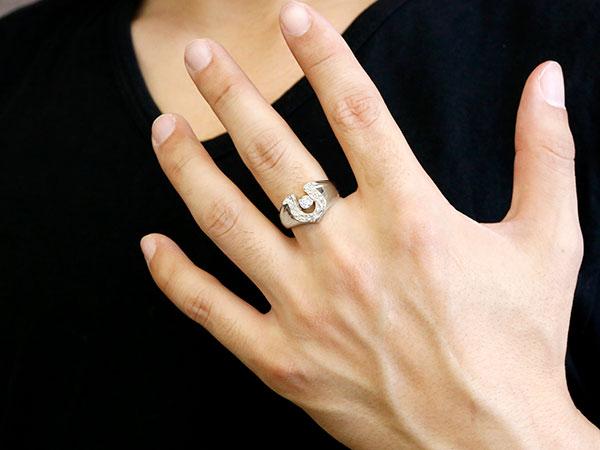 メンズ 馬蹄 ダイヤモンド ホワイトゴールドk10 リング 槌目 槌打ち 印台 指輪 ダイヤ 一粒 ダイヤモンドリング 10金 蹄鉄 幅広 ストレート 男性用 贈り物 誕生日プレゼント ギフト エンゲージリングのお返し