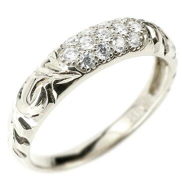 メンズ ハワイアンジュエリー ダイヤモンドリング パヴェ シルバー925 リング 指輪 ピンキーリング sv925 男性用 ストレート エンゲージリングのお返し Xmas Christmas