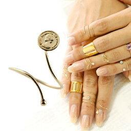【ポイント10倍】メンズリング ファランジリング コイン ピンクゴールドk18 ミディリング 関節リング 指輪 地金リング ピンキーリング 18金 フリーサイズ ストレート 送料無料 人気
