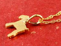 【送料無料】純金24金犬24Kシュナウザーテリア系ペンダントネックレス24金k24いぬイヌ犬モチーフギフト誕生日プレゼント記念日