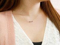 【送料無料】ダイヤモンドシルバーガーネットネックレス1月誕生石ダイヤラインネックレスペンダントレディースsv925チェーン人気
