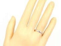 甲丸ペアリングダイヤモンド結婚指輪マリッジリングホワイトゴールドk18ハーフエタニティ一粒結婚式18金ダイヤストレートカップルブライダルジュエリーウエディング