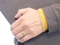 【送料無料】ペアリングイエローゴールドk18マリッジリング結婚指輪2本セット結婚式18金ストレートカップル