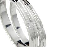 【送料無料】結婚指輪マリッジリングペアリングクロスプラチナ900結婚式ストレートカップル