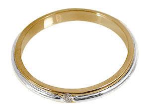 結婚指輪 ペアリング マリッジリング ダイヤモンド 一粒 ホワイトゴールドk18 ピンクゴールドk18 結婚式 18金 ダイヤ ストレート カップル ブライダル シンプル 人気 ペア シンプル 2本セット 彼女 結婚記念日