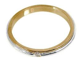 【送料無料】ペアリング結婚指輪マリッジリングプラチナダイヤモンド一粒ピンクゴールドk18結婚式18金ダイヤストレートカップル