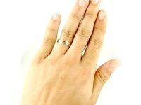【送料無料】甲丸ペアリング結婚指輪ダイヤモンドホワイトゴールドk18イエローゴールドk18コンビリング結婚式18金ダイヤストレートカップル