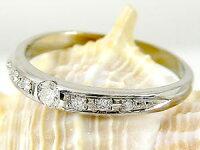 【送料無料】鑑定書付きペアリング結婚指輪マリッジリング一粒ダイヤモンドブラックダイヤモンドプラチナマリッジリング結婚式ダイヤストレートカップル