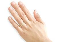 【送料無料】ペアリング結婚指輪マリッジリングプラチナ一粒ダイヤモンドイエローゴールドk18結婚式18金ダイヤストレートカップル