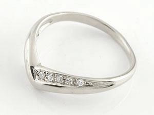 結婚指輪 刻印 V字 ペアリング マリッジリング ダイヤモンド ホワイトゴールドk18 結婚式 18金 ウェーブリング ダイヤ カップル ブライダルジュエリー ウエディング 贈り物 誕生日プレゼント ギフト ファッション パートナー