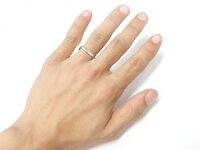 【送料無料】V字ペアリング結婚指輪マリッジリングキュービックジルコニアフェザーシルバーウェーブリングカップル