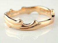 【送料無料】ペアリング結婚指輪マリッジリングピンクゴールドk18結婚式18金ストレートカップル