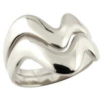 ペアリング結婚指輪マリッジリングホワイトゴールドk18V字結婚式18金ウェーブリングカップルブライダルジュエリーウエディング