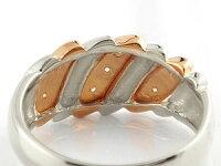 【送料無料】刻印ペアリング結婚指輪マリッジリングダイヤモンド幅広ピンクゴールドk18プラチナ結婚式18金ダイヤストレートカップルブライダルジュエリーウエディング