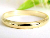 結婚指輪ペアリングマリッジリングイエローゴールドk18甲丸結婚式18金ストレートカップルブライダルジュエリーウエディング