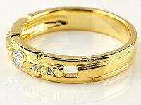 ペアリング人気結婚指輪ダイヤモンドマリッジリング結婚式イエローゴールドk18ホワイトゴールドk18ダイヤ18金ストレートカップルブライダルジュエリーウエディング