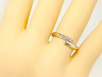 結婚指輪ペアリングマリッジリングダイヤモンドピンクサファイアホワイトゴールドK18ピンクゴールドK18結婚式18金ダイヤストレートカップルブライダルジュエリーウエディング
