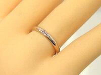 ペアリングホワイトゴールドk10ピンクゴールドk10ピンクサファイア指輪結婚指輪マリッジリング10金ストレートカップルブライダルジュエリーウエディング