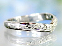 V字ペアリングダイヤモンド結婚指輪ホワイトゴールドk18マリッジリング結婚式18金ウェーブリングダイヤカップルブライダルジュエリーウエディング