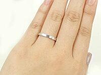 【送料無料】結婚指輪プラチナリングペアリングダイヤモンド結婚式ダイヤストレートカップル