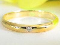 【送料無料】結婚指輪マリッジリングペアリングホワイトゴールドk10イエローゴールドk10ダイヤモンド指輪10金ダイヤストレートカップル