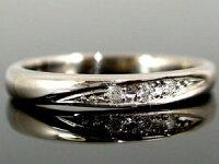 結婚指輪マリッジリングペアリングダイヤモンドホワイトゴールドk18結婚式18金ダイヤストレートカップルブライダルジュエリーウエディング