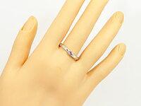 【送料無料】結婚指輪ペアリングマリッジリングピンクサファイアダイヤモンドホワイトゴールドk189月誕生石結婚式18金ダイヤカップル