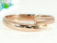 【送料無料】ペアリング指輪ダイヤモンド結婚指輪マリッジリングピンクゴールドk1010金ダイヤストレートカップル