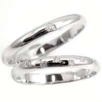 【送料無料】ホワイトゴールドk10ペアリング結婚指輪マリッジリングダイヤモンドソリティア10金ダイヤストレートカップル
