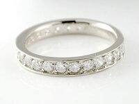 【送料無料】ペアリング結婚指輪マリッジリングダイヤモンドハーフエタニティホワイトゴールドk18イエローゴールドk18結婚式18金ダイヤストレートカップルクリスマス