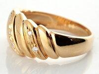【送料無料】ペアリング結婚指輪マリッジリングダイヤモンド幅広ピンクゴールドk18プラチナ結婚式18金ダイヤストレートカップル