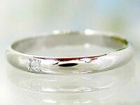 【送料無料】ペアリングプラチナダイヤモンド結婚指輪マリッジリングアクアマリン甲丸ダイヤストレートカップル