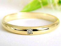 【送料無料】ペアリングダイヤモンド結婚指輪マリッジリング甲丸ホワイトゴールドk18イエローゴールド18金ダイヤストレートカップル