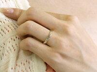 【送料無料】ペアリングダイヤモンド結婚指輪マリッジリングホワイトゴールドk1818金シンプルつや消し結婚式ダイヤストレートペアリィーカップル