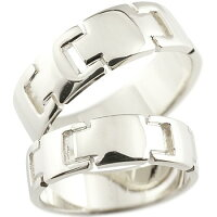 【送料無料】ペアリングクロスシルバーリング結婚指輪マリッジリング地金リング十字架シンプル宝石なしストレートカップル